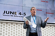 Tom Still from Wisconsin Technology Council at Wisconsin Entrepreneurship Conference at Venue 42 in Milwaukee, Wisconsin, Wednesday, June 5, 2019.