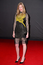 Jade Parfitt at the British Fashion Awards in London, Monday, 2nd December 2013. Picture by Nils Jorgensen / i-Images