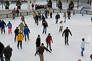 Chicago Illinois USA, Ice skating at Millennium park, downtown Chicago December 2006