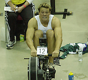© Peter Spurrier/Sports Photo +44 (0) 7973 819 551.PPP Healthcare British Indoor Rowing Championships.18th Nov. 2001.National Indoor Arena..Three quarter's through the race James Cracknell starts to feel the pain... ........... [Mandatory Credit: Peter SPURRIER/Intersport Images]<br /> <br /> 20011118 British Indoor Rowing Championships, Birmingham.