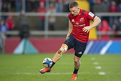 December 9, 2018 - Limerick, Ireland - Andrew Conway of Munster kicks a ball during the Heineken Champions Cup Round 3 match between Munster Rugby and Castres Qlympique at Thomond Park Stadium in Limerick, Ireland on December 9, 2018  (Credit Image: © Andrew Surma/NurPhoto via ZUMA Press)