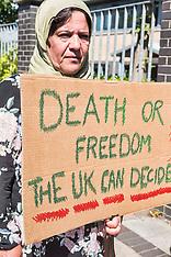 Refugee family on hunger strike, Glasgow, 28 June 2018