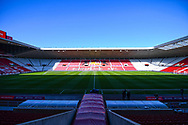 A general view of the pitch before the EFL Sky Bet League 1 first leg Play Off match between Sunderland and Portsmouth at the Stadium Of Light, Sunderland, England on 11 May 2019.