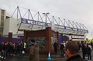 General view outside the stadium. The Emirates FA cup, 3rd round match, Everton v Dagenham & Redbridge at Goodison Park in Liverpool on Saturday 9th January 2016.<br /> pic by Chris Stading, Andrew Orchard sports photography.