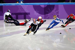 Republic of Korea's Hyojun Lim in the Men's 1500m Short Track Final A during day one of the PyeongChang 2018 Winter Olympic Games in South Korea.