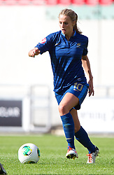 LLANELLI, WALES - Saturday, August 31, 2013: France's Sandie Toletti in action against England during the Final of the UEFA Women's Under-19 Championship Wales 2013 tournament at Parc y Scarlets. (Pic by David Rawcliffe/Propaganda)