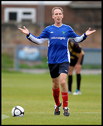 Shadow Secretary of State for Defence Jim Murphy playing in the Labour Politicians v Reporter's Football match at the Labour Party Autumn Conference. Sunday, 22nd September 2013. Picture by Andrew Parsons / i-Images