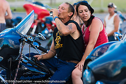 Saturday afternoon at the Smokeout. Rockingham, NC. USA. June 20, 2015.  Photography ©2015 Michael Lichter.
