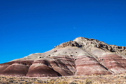 One of the first stops you come to on the road to Cathedral Valley are the Bentonite Hills.