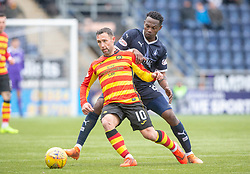 Partick Thistle's Scott McDonald and Falkirk's Abdul Osman. Falkirk 1 v 1 Partick Thistle, Scottish Championship game played 16/3/2019 at The Falkirk Stadium.