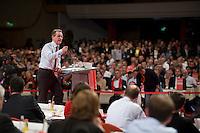 18 OCT 2008, BERLIN/GERMANY:<br /> Franz Muentefering, SPD, designierter Parteivorsitzender, waehrend seiner Rede, vor seiner Wahl zum Parteivorsitzenden der SPD, ausserordentlicher Bundesparteitag der SPD, Estrell Convention-Center<br /> IMAGE: 20081018-01-261<br /> KEYWORDS: Party Congress, Parteitag, Sonderparteitag, speech, Publikum, Franz Müntefering