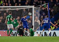 Football - 2018 / 2019 Premier League - Chelsea vs. Brighton & Hove Albion<br /> <br /> Oliver Giroud (Chelsea FC)  scores after Callum Hudson-Odoi (Chelsea FC)  provides the cross at Stamford Bridge <br /> <br /> COLORSPORT/DANIEL BEARHAM