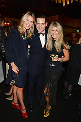 Left to right, the HON.VIRGINIA CHADWYCK-HEALEY, RICHARD DENAN and PIPPA HOLT at the Vogue Pop Up Club at Westfield London to celebrate Westfield London's 5th birthday on 30th October 2013.