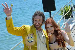 TJ Miller and his wife Kate Miller attending the Emoji Movie photocall at the Carlton beach in Cannes, France on May 16, 2017. Photo by Aurore Marechal/ABACAPRESS.COM