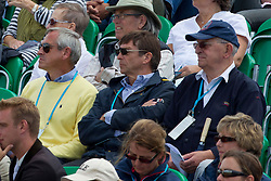 Eddy De Smedt (chef de mission for the London Olympics) with (R) Jacky Buchmann (President Belgian Equestrian Federation), (L) Carl Bouckaert<br /> CIC2* Greenwich Park Eventing Invitational<br /> Olympic Test Event - London 2011<br /> © Dirk Caremans
