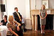 GREGOR MUIR; ALISON MYNERS, Pablo Bronstein, Sketches for Regency Living. Discussion and lunch. ICA. The Mall. London. 7 June 2011. <br /> <br />  , -DO NOT ARCHIVE-© Copyright Photograph by Dafydd Jones. 248 Clapham Rd. London SW9 0PZ. Tel 0207 820 0771. www.dafjones.com.