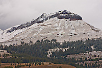 First snow of the autumn season on 12,734 ft. Truk's Head of the San Juan Mountains, Colorado.