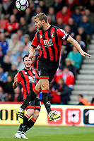 Football - 2016 / 2017 Premier League - AFC Bournemouth vs. Hull City<br /> <br /> Bournemouth's Steve Cook heads clear on his 200th appearance for the club at Dean Court (The Vitality Stadium) Bournemouth <br /> <br /> Colorsport/Shaun Boggust