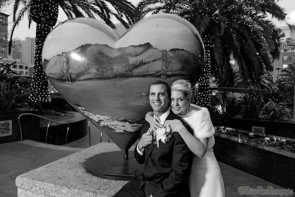 Melanie and Kenneth Kirrene wedding in San Francisco, Friday, January 8, 2016.<br /> Photo Brian Baer