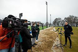 Dino Skender, head coach of Olimpija at media interview during first practice session of NK Olimpija Ljubljana before the spring season of Prva liga Telekom Slovenije 2020/21, on January 7, 2021 in Sports park Stozice, Ljubljana Slovenia. Photo by Vid Ponikvar / Sportida