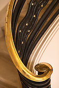 Handrail of staircase in Carnegie Library of Reims, France