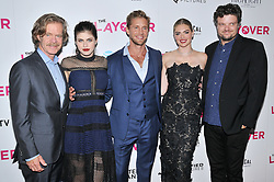 """(L-R) """"The Layover"""" Cast & Crew - Director William H. Macy with Actors Alexander Daddario, Matt Barr, Kate Upton & Matt Jones at """"The Layover"""" Los Angeles Premiere held at the ArcLight Hollywood in Los Angeles, CA on Wednesday, August 23, 2017. (Photo By Sthanlee B. Mirador/Sipa USA)"""