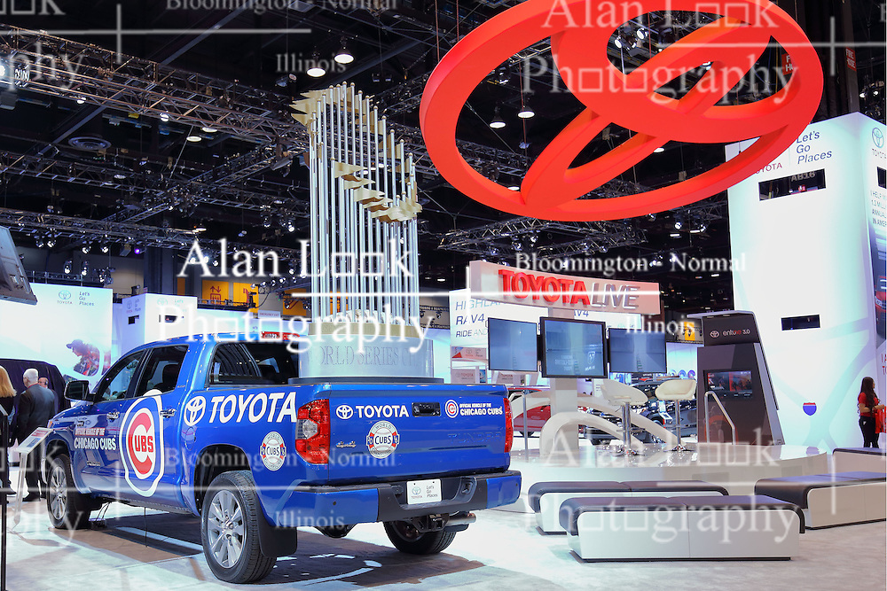 09 February 2017: Toyota Chicago Cubs 4x4 Tundra<br /> <br /> First staged in 1901, the Chicago Auto Show is the largest auto show in North America and has been held more times than any other auto exposition on the continent.  It has been  presented by the Chicago Automobile Trade Association (CATA) since 1935.  It is held at McCormick Place, Chicago Illinois<br /> #CAS17