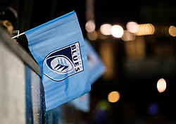 A general view of a Cardiff Blues flag<br /> <br /> Photographer Simon King/Replay Images<br /> <br /> Guinness PRO14 Round 14 - Cardiff Blues v Connacht - Saturday 26th January 2019 - Cardiff Arms Park - Cardiff<br /> <br /> World Copyright © Replay Images . All rights reserved. info@replayimages.co.uk - http://replayimages.co.uk