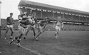 GAA All Ireland Minor Football final Cork V. Offaly 27th September 1964 at Croke Park..Cork Goalie clears but crosses the line to concede a 50 yard free ..27.9.1964  27th September 1964
