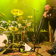 WASHINGTON, DC - May 5th, 2014 - Dave Grohl and Pete Stahl perform at the 9:30 Club in Washington D.C. as part of the birthday celebration for Trouble Funk's Big Tony. Stahl and Grohl are former bandmates in Scream, a punk band from Bailey's Crossroads, VA. (Photo by Kyle Gustafson / For The Washington Post)