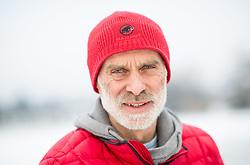 Portrait of Andrej Štremfelj, Slovenian mountaineer, with Nejc Zaplotnik first Slovenes and the first Yugoslavs that reached the summit of Mount Everest. Štremfelj also conquered several other eight-thousanders, and later climbed Mount Everest once more with his wife, becoming the first married couple to do so. Photo taken on January 26, 2019 in Koseze, Ljubljana, Slovenia. Photo by Vid Ponikvar / Sportida