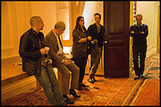 JAMES FRANCO; HANS OBRIST ULRICH; MAJA HOFFMANN; ANDREAS SIEGFRIED;  Stanley Buchthal, Stanley Buchthal, James Franco talk and supper at Mansfield St. hosted by Maja Hoffmann. London. 23 November 2014