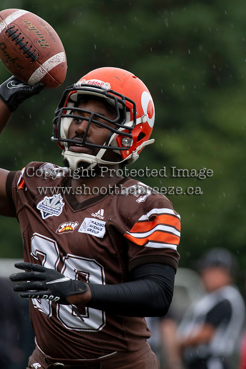 CHILLIWACK, BC - SEPTEMBER 11: Sendlay Mirtil #38 of Okanagan Sun throws the ball during warm up against the Westshore Rebels at Exhibition Stadium in Chilliwack, BC, Canada. (Photo by Marissa Baecker/Shoot the Breeze)