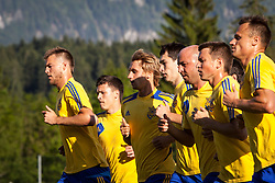 25.05.2012, Sportplatz, Walchsee, AUT, UEFA EURO 2012, Trainingscamp, Ukraine, Training, im Bild Andriy Yarmolenko, (UKR), Evgen Konoplyanka, (UKR), Bohdan Butko, (UKR), Taras Stepanenko, (UKR), Sergiy Nazarenko, (UKR), Ruslan Rotan, (UKR), Vyacheslav Shevchuk, (UKR) // Andriy Yarmolenko, (UKR), Evgen Konoplyanka, (UKR), Bohdan Butko, (UKR), Taras Stepanenko, (UKR), Sergiy Nazarenko, (UKR), Ruslan Rotan, (UKR), Vyacheslav Shevchuk, (UKR) during the first Trainingssession of Ukraine National Footballteam for preparation UEFA EURO 2012 at the Stadium, Walchsee, Austria on 2012/05/25. EXPA Pictures © 2012, PhotoCredit: EXPA/ Juergen Feichter