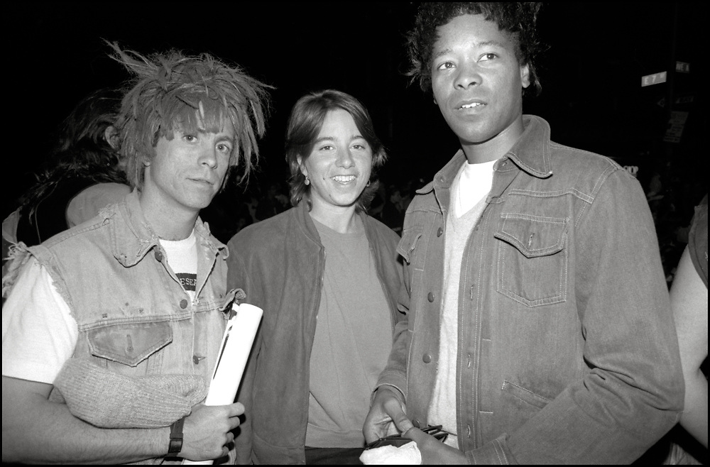 Peter Cramer, Sarah Schulman and Jack Waters at Wigstock, an annual outdoor drag festival that began in the 1980s in Tompkins Square Park in the East Village of New York City that took place on Labor Day in 1989.