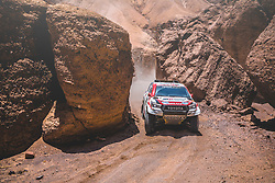 Nasser Al-Attiyah (QAT) of Toyota Gazoo Racing SA races during stage 5 of Rally Dakar 2019 from Tacna to Arequipa, Peru on January 11, 2019.