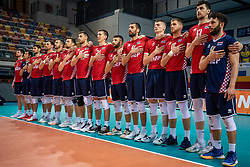 Team Croatia during the CEV Eurovolley 2021 Qualifiers between Sweden and Croatia at Topsporthall Omnisport on May 15, 2021 in Apeldoorn, Netherlands
