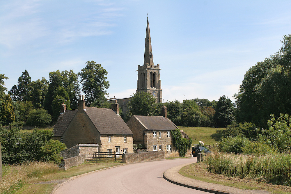 The northamptonshire village of Bulwick, in the north of the county just off the A43.