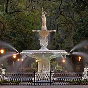 Forsyth Park Fountain in Savannah, Georgia