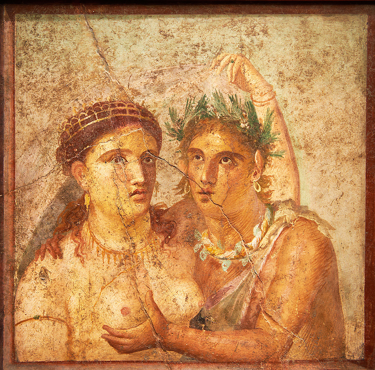 1 cent AD Roman Erotic  Mythical fresco from a house in Pompeii. Naples Archaological Museum inv no: 110590