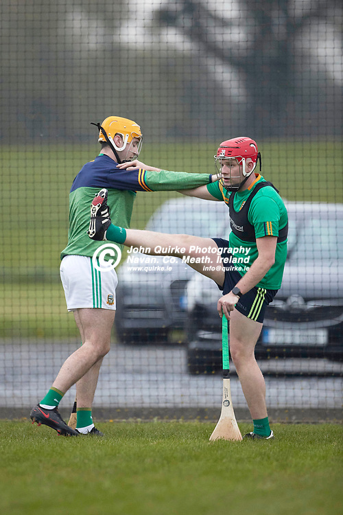21-04-20, Meath Senior Hurling squad return to training at Dunganny<br /> Shane Whitty & Jack Regan pictured during the training session<br /> Photo: David Mullen / www.quirke.ie ©John Quirke Photography, Proudstown Road Navan. Co. Meath. 046-9079044 / 087-2579454.<br /> ISO: 4000; Shutter: 1/1000; Aperture: 4;