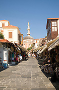 Soktratous street shops, Rhodes town, Greece