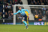 Jay Fulton of Swansea city in action. Premier league match, West Bromwich Albion v Swansea city at the Hawthorns stadium in West Bromwich, Midlands on Wednesday 14th December 2016. pic by Andrew Orchard, Andrew Orchard sports photography.