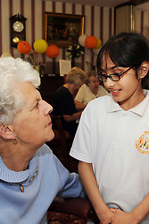 European Neighbours Day 20/5/2009, an event to promote the interaction between older and younger people held at Walkmill Court Sheltered Housing and the Jericho School.  The children entertained and served a European lunch to the residents to develop confidence and understanding between the generations.Cumbria