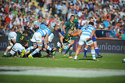 August 25, 2018. Malvinas Argentinas Stadium, Mendoza, Argentina.<br /> FAF DE KLERK starting a new attack from a scrum formation during fist half of the game.