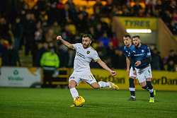 Livingston Steven Lawless scoring their third goal from a penalty. Livingston 3 v 1 Raith Rovers, William Hill Scottish Cup played 18/1/2020 at the Livingston home ground, Tony Macaroni Arena.