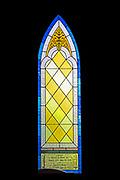 'Charles E. Fuller, Jr. Memorial Window,' Jackman Studio, installation date unknown (post-1990). St. Matthew and Barnabas, Hallowell, Maine.