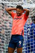 Everton's Dominic Calvert-Lewin in action during an English Premier League soccer match between Chelsea and Everton at Stamford Bridge stadium, Sunday, March 8, 2020, in London, United Kingdom. Chelsea defeated Everton 4-0. (Mitchell Gunn-ESPA Images/Image of Sport via AP)
