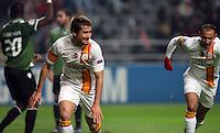 UEFA Champions league group H football match between  Braga v Galatasaray at Municipal (AXA)Stadium in Braga, Portugal 05.12.2012.Match Scored: Braga 1 - Galatasaray 2.Pictured: Galatasaray's Aydin Yilmaz celebrates after the scored.