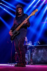 LOS ANGELES, CA - JUNE 20: Drum and percusion player Alex Gonzalez of legendary Mexican Rock band Mana perfoms on stage during their Cama Incendiada Tour at Staples Center on June 20, 2015 in Los Angeles, California. Byline, credit, TV usage, web usage or linkback must read SILVEXPHOTO.COM. Failure to byline correctly will incur double the agreed fee. Tel: +1 714 504 6870.